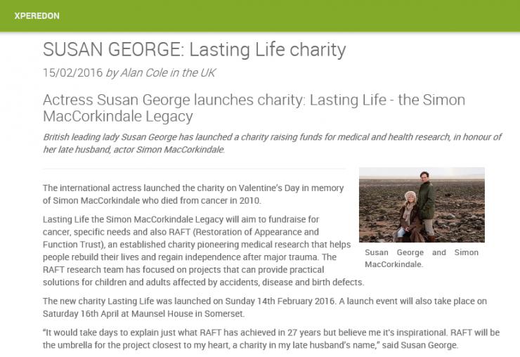 Lasting Life The Simon MacCorkindale Legacy Xperedon